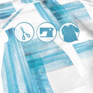 SKADIY ¾ sleeve dress costa 012 fabric
