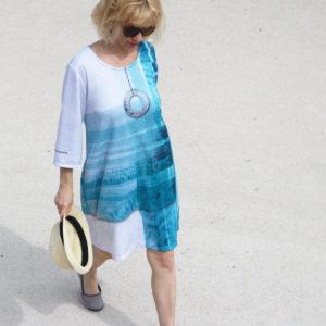 SKADIY ¾ sleeve dress costa 012 front 2