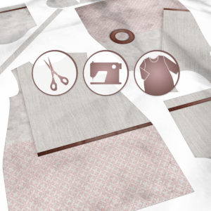 SKADIY ¾ sleeve dress wabisabi 033 fabric